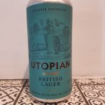 Utopian. Unfiltered British Lager